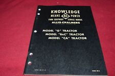 Allis Chalmers G B C CA Tractor Dealer's Shop Manual YABE15
