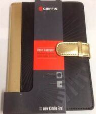 NEW Griffin Deco Passport Case Cover Kindle Fire HD 7 (1st & 2nd Gen) Black/Gold