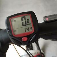 Schwarz LCD Funk Fahrradcomputer Fahrrad Tachometer Radfahren Kilometerzähl G7Y4