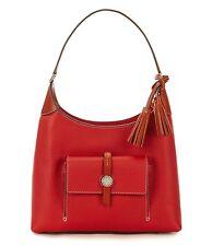 Dooney & Bourke BCAMB0647 Cambridge Tasseled Small Pebble Leather Hobo Bag (Red)