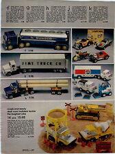 1979 ADVERT Buddy L Sunoco Tanker Truck Pepsi Cola Ertl Steel Road Construction