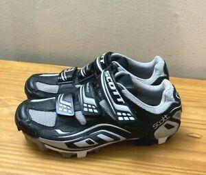 Scott Comp MTB Cycling Shoes Black Womans Ladies sz 6 / 37 w/ Cleats