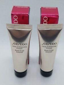 Shiseido The Makeup Glow Enhancing Primer 2 Deluxe Travel Size 10ml each./.36oz