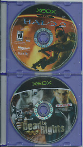 Dead to Rights & Halo 2 (Microsoft Xbox) (Games Only, 360 Compatible) 🎮🎮🎮