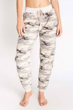 PJ Salvage Women's Cozy Items Banded Plush Pant - Olive Camo
