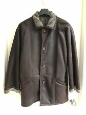 Genuine Shearling Leather Jacket Coat Brown Snowtop Harry Rosen Size 42 Large