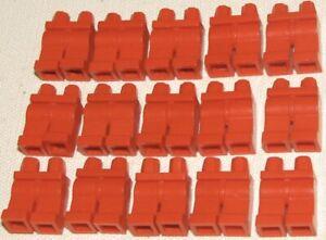 Lego 15 Plain Red Legs Bulk Parts / City / Star Wars Mini Figures Pants