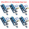 6Set USB3.0 PCI-E Pcie Express 1xto16x Extender Riser Card Adapter BTC Cable Lot
