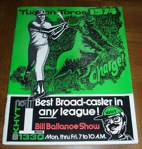 EXTREMELY RARE VINTAGE 1974 TUCSON TOROS BASEBALL PROGRAM- OAKLAND A's AFFILIATE