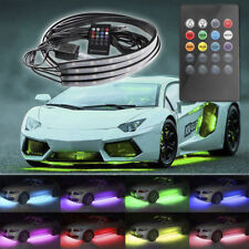 RGB Colorful LED Strip Under Car Tube Underglow Underbody System Neon Lights Kit