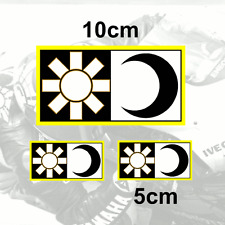 x3 Valentino Rossi Sticker SUN and MOON Vinyl Decal