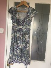 OASIS WOMENS DESIGNER PURPLE MULTI FLORAL OCCASION DRESS SZ 6-8 SUMMER, UNUSUAL