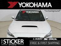 Yokohama windshield Sticker Vinyl suit Toyota Honda Mitsubishi Supra s2000 EVO