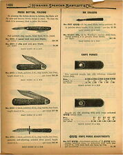 1926 PAPER AD Business Invincible The Victor Press Button Pocket Knife Knives