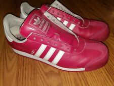 Adidas Samoa Mens (Rare) Red /White Leather Shoes Size 13 Art #G56858 NICE!!!