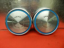 """2 USED 73 Ford Mustang Mavrick Sprint Package 10 1/4"""" Hubcap #D2ZZ-1130-B"""