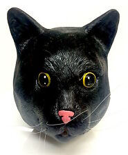 All Black Cat Mask Halloween Witches Cat Fancy Dress Feline Costume Animal Pet