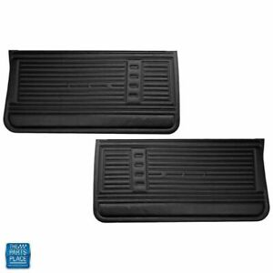 1967 67 Chevy Chevelle 2 Door Black Door Panels New Unassembled