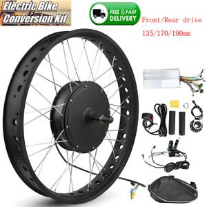 1500W Electric Bicycle E-bike Front/Rear Wheel Conversion Kit Hub Motor Refit