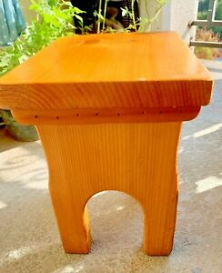 Rustic Natural Wood Stool Bench Side Table Plant Stand Chair Home Garden