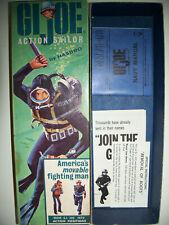 60's G.I. Joe Sailor box, w/ paperwork, xint
