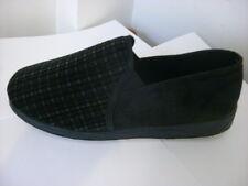 Padders Albert Black Combi Textile Slip on Slipper Size 12(G)