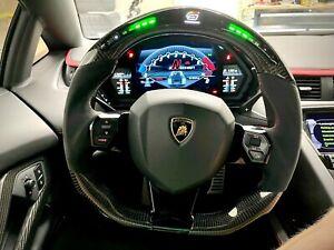 Lamborghini Aventador Steering wheel Carbon fiber w/RPM shift light