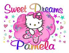 "HELLO KITTY Personalized PILLOWCASE ""SWEET DREAMS"" Any NAME Super Soft"