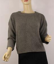 Polo Ralph Lauren Womens Sweater Large Gray Knit Cotton MSRP $198