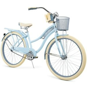 "Huffy 26"" Nel Lusso Women's Classic Cruiser Bike Light Blue"