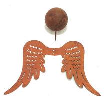Endelsflügel mit Kopf 15x20cm Bausatz Weihnachten Edelrost Engel Flügel Garten