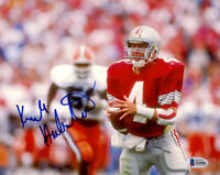 KIRK HERBSTREIT SIGNED AUTOGRAPHED 8x10 PHOTO OHIO STATE ESPN LEGEND BECKETT BAS