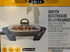 """Bella Electric Nonstick Skillet 12""""x12"""" with Cool Touch Handles 13820 Brand New"""