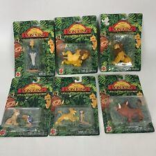 Vintage The Lion King Collectible Figure Complete Set Lot 6 Mattel