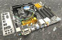 i5-4460 @ 3.20GHz 8GB HyperX Fury DDR3 Gigabyte H97M-D3H CPU Combo Working EG608