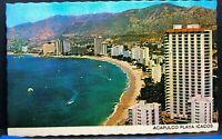 Vintage Postcard Mexico Acapulco Icacos Beach Playa