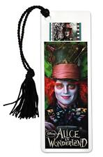 ALICE IN WONDERLAND 2010 Fantasy Movie MAD HATTER Film Cell PLASTIC BOOKMARK New