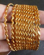 South Indian 22K Gold Plated 12 Pcs Indian All Purpose Bangles Bracelets 2.4''