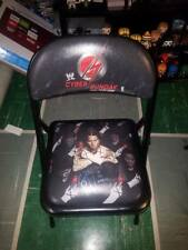 WWE CYBER SUNDAY CM PUNK AUTOGRAPHED RINGSIDE CHAIR OCTOBER 26 2008 SIGNED