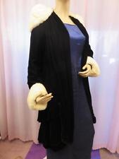 Vintage LORD & TAYLOR Steampunk VELVET OPERA COAT Cloak Ermine Fur Collar 20's