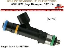 1 NEW Fuel Injector OEM BOSCH for 2007-2010 Jeep Wrangler 3.8L V6 #0280158119