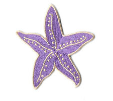 Starfish - Beach - Seashells - Summer - Embroidered Iron On Applique Patch
