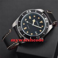 43mm PARNIS black dial luminous 10atm Sapphire Glass automatic mens Watch C704