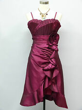 Vestido de dama de honor cherlone púrpura de Baile de graduación Noche Fiesta Formal Largo Hasta La Rodilla 16