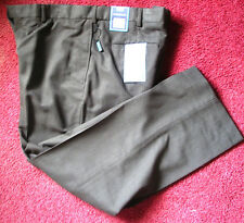 NWT Kohl's Classic CROFT BARROW Men's DRESS PANTS 38 X 30 Microfiber FLAT FRONT