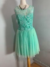 LIPSY Mint green DRESS UK size 16 Evening Prom