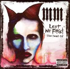 MARILYN MANSON - LEST WE FORGET: THE BEST OF [GERMANY BONUS TRACK] [PA] NEW CD