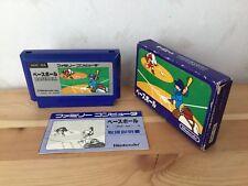 Used Nintendo BASEBALL Japanese Famicom w/Box Manual