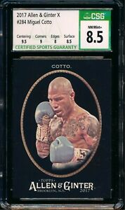 2017 Topps Allen & Ginter X #284 Miguel Cotto Boxing RC CSG 8.5 NM/Mint+ a