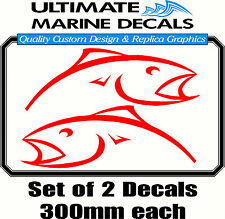 Berkley Red Mirrored Fish 300mm Decal, Toolbox, Tackle Box Sticker